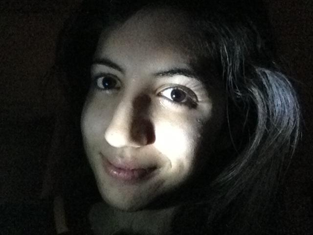 Me in the dark.