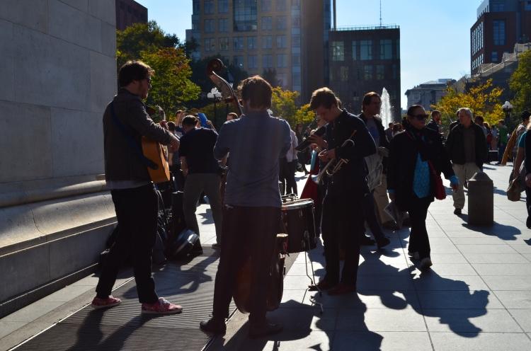 Washington Square Park musicians; Belongs to: Gabriela Yareliz