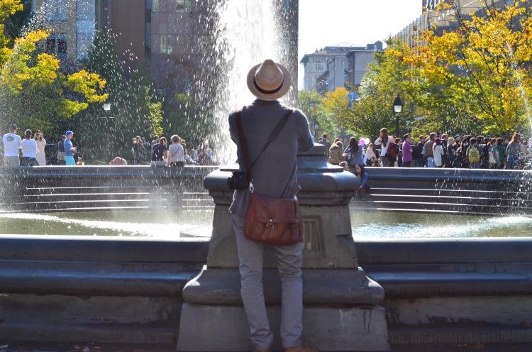 A Village Man in Washington Square Park; Belongs to: Gabriela Yareliz